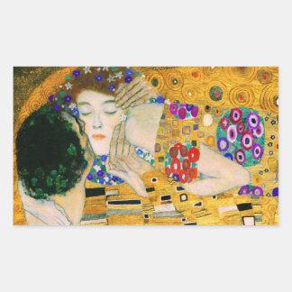 Le baiser par Gustav Klimt Sticker Rectangulaire
