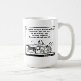 Le balai la pelle le tisonnier et pinces tasse à café