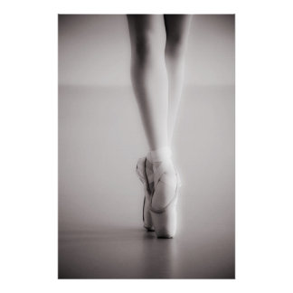 Le ballet Pointe chausse des pantoufles de danse Poster