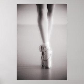 Le ballet Pointe chausse des pantoufles de danse Posters