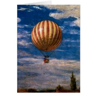 Le ballon, 1878 carte de vœux