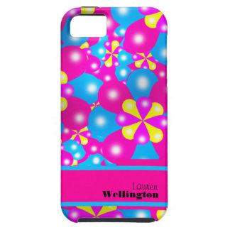 Le ballon chic fleurit cas de Coque-Compagnon d'Ip Coques iPhone 5 Case-Mate