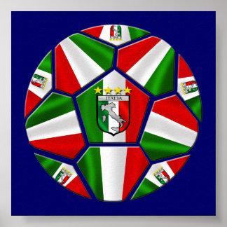 Le ballon de football italien moderne lambrisse de poster