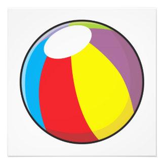Le ballon de plage en plastique gonflable fait sur photographies d'art