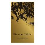 le bambou de fatfatin laisse à or la carte noire d cartes de visite professionnelles