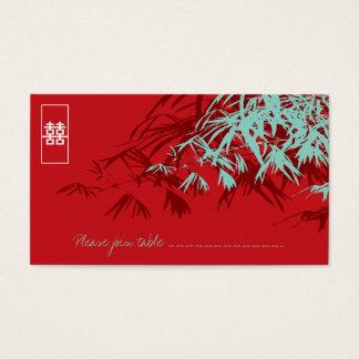 Le bambou laisse de doubles cartes d'endroit de