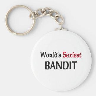Le bandit le plus sexy du monde porte-clé rond