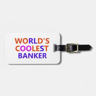 le banquier le plus frais étiquettes bagages