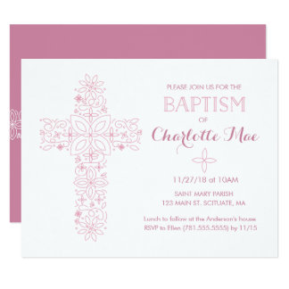 Le baptême du bébé, carte d'invitation de baptême carton d'invitation 10,79 cm x 13,97 cm