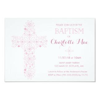 Le baptême du bébé, carte d'invitation de baptême carton d'invitation 8,89 cm x 12,70 cm