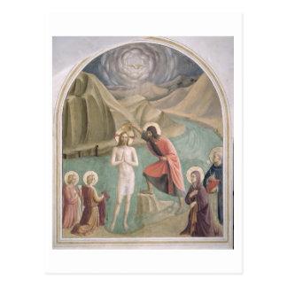 Le baptême du Christ, c.1438-45 (fresque) Carte Postale
