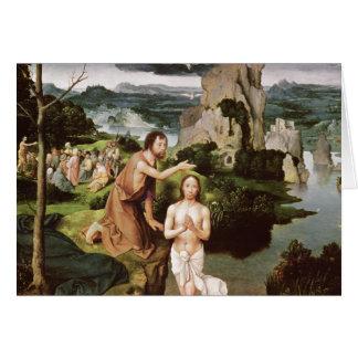 Le baptême du Christ, c.1515 Carte De Vœux
