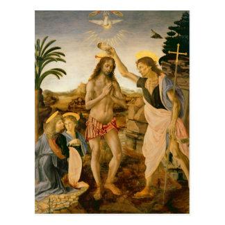 Le baptême du Christ par Jean-Baptist Carte Postale