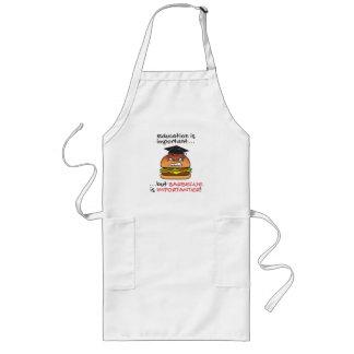 Le barbecue est tablier fâché drôle d'hamburger