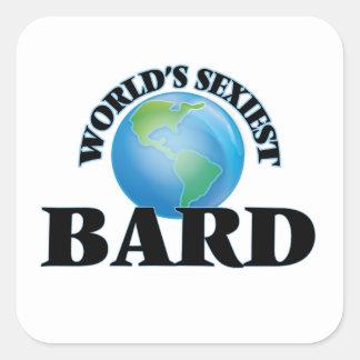 Le barde le plus sexy du monde stickers carrés