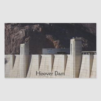 Le barrage de Hoover Sticker Rectangulaire
