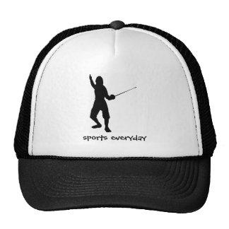 le barrière-jeu escrime patin sport gymnase c casquettes de camionneur