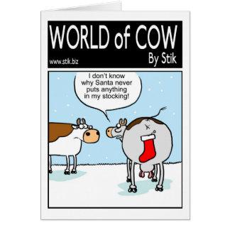 Le bas inférieur de la vache carte de vœux
