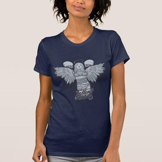 Le bas tombé d'icônes a coupé des ailes de T-shirt