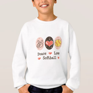 Le base-ball d'amour de paix badine le sweatshirt