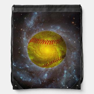 Le base-ball dans le sac à dos unique de cordon de