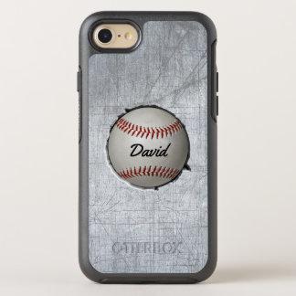 Le base-ball enfoncent le métal de cool de thème coque otterbox symmetry pour iPhone 7