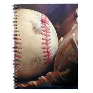 Le base-ball et gant carnet