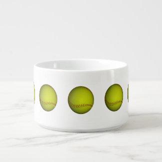 Le base-ball jaune au néon bol pour chili