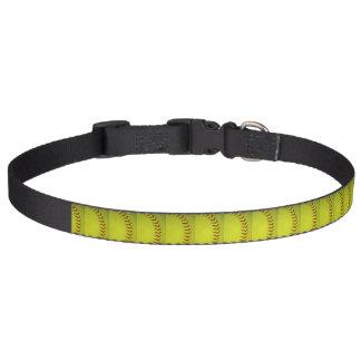 Le base-ball jaune au néon collier pour chien