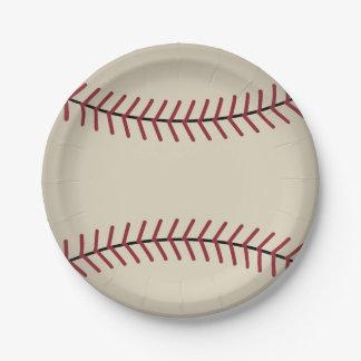 Le base-ball vintage folâtre les plaques à papier assiettes en papier