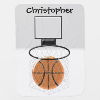 Le basket-ball ajoutent juste le nom couvertures de bébé
