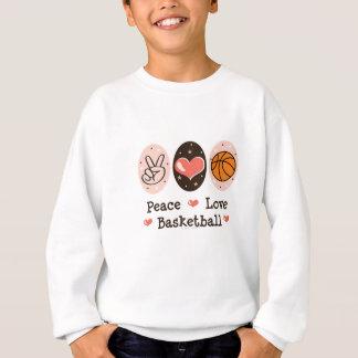 Le basket-ball d'amour de paix badine le sweatshirt