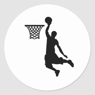 Le basket-ball est de grands sports sticker rond