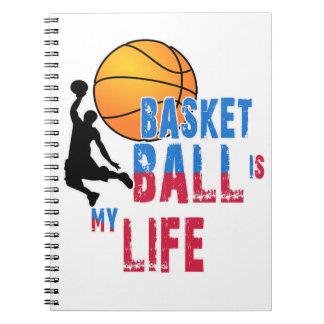 Le basket-ball est ma vie carnets à spirale