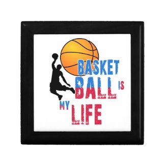 Le basket-ball est ma vie petite boîte à bijoux carrée