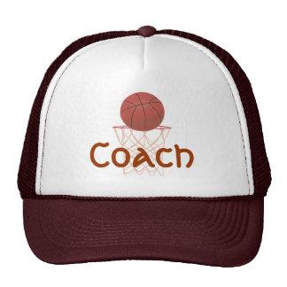 Le basket-ball et le filet, avec l'entraîneur folâ casquettes de camionneur