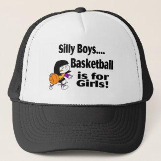Le basket-ball idiot de garçons est pour des casquette