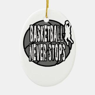 Le basket-ball ne s'arrête jamais ornement ovale en céramique