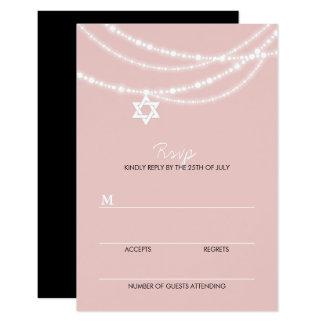 Le bat mitzvah rose miroite carte de l'étoile de