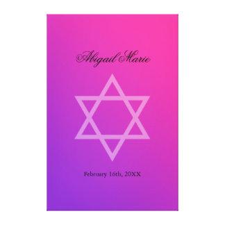 Le bat mitzvah rose pourpre d'étoile de David Toile Tendue