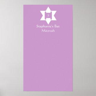Le bat mitzvah signent dedans l'affiche de conseil affiches