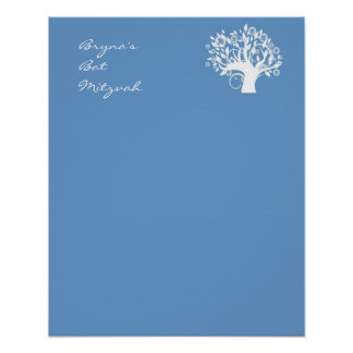 Le bat mitzvah signent dedans l'arbre de conseil d poster