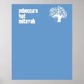 Le bat mitzvah signent dedans l'arbre de conseil d affiches