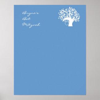 Le bat mitzvah signent dedans l'arbre de conseil poster