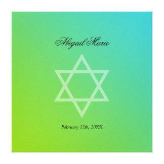 Le bat mitzvah turquoise d'étoile de David de vert Toiles Tendues