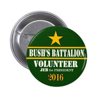 Le bataillon de Bush : Jeb Bush pour le président  Pin's