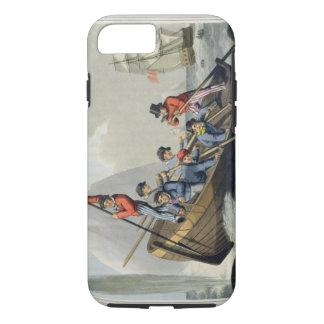 Le bateau d'un bateau attaquant une baleine, coque iPhone 8/7