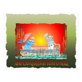 """Le bateau """"LA REINE AFRICAINE"""" par O'Neill élégant Carte Postale"""