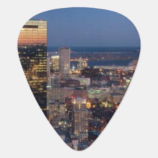 Le bâtiment de Boston avec la lumière traîne sur Onglet De Guitare