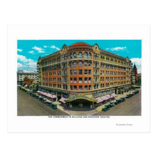 Le bâtiment de Commonwealth et le théâtre de Carte Postale